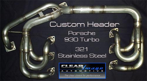 Custom Header Porsche 930 Turbo 321 Stainless